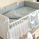 Комплект постельный в кроватку Martoo Comfy 6 / CM-6-GR/WT-ST (белый/серый, звезды) -