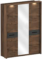 Шкаф Мебельград Глазго 3-х дверный с обрамлением 174.5x60x231.5 (таксония/графит) -