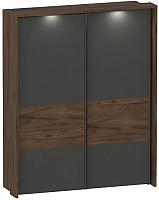Шкаф Мебельград Глазго с раздвижными дверями с обрамлением 190x65x235 (таксония/графит) -