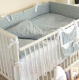 Комплект постельный в кроватку Martoo Comfy 3 / CM-3-GR/WT-ST (белый/серый, звезды) -