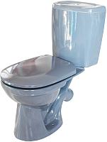 Унитаз напольный Керамин Омега (графит, с полипропиленовым сиденьем) -