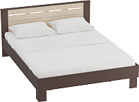Каркас кровати Мебельград Женева 160x200 (венге/дуб молочный) -