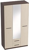 Шкаф Мебельград Женева 3-х дверный 120x52x220 (венге/дуб молочный) -