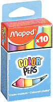 Набор мела канцелярского Maped Color Peps / 593501 (10шт) -