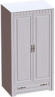 Шкаф Мебельград Прованс 2-х дверный 107x59x197 (бодега белая/платина премиум) -