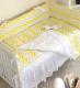 Комплект постельный в кроватку Martoo Basik Comfy 6 / CM-BS-6-YGZ (желтый/серый, зигзаг) -