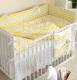 Комплект постельный в кроватку Martoo Comfy 4 / CM-4-YGZ (желтый/серый, зигзаг) -