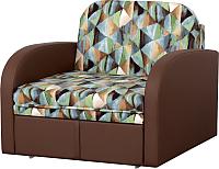 Кресло-кровать Мебельград Кадет М08 Стандарт (твинкли голубой/домус коричневый) -