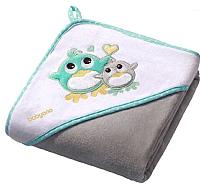 Полотенце с капюшоном BabyOno Велюр 137/05 (76x76, серый) -