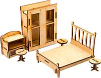 Комплект аксессуаров для кукольного домика Теремок Спальня / КМ-5 -
