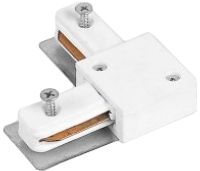 Коннектор для шинопровода Alfaled Connector WH L угловой (белый) -
