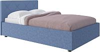 Двуспальная кровать Комфорт-S Габриэль 160x200 с ПМ (темно-синий/ромбы) -