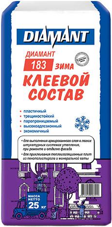 Купить Клей для теплоизоляционных плит Diamant, ПМ КС 1 183 зима (25кг), Беларусь