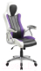 Кресло геймерское Mio Tesoro Луиджи X-2702 (белый/черный/фиолетовый) -