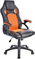 Кресло геймерское Mio Tesoro Дино X-2706 (черный/оранжевый) -
