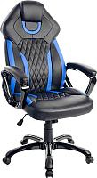 Кресло геймерское Mio Tesoro Амато X-2732 (черный/синий) -