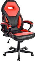 Кресло геймерское Mio Tesoro Поло X-2768 (черный/красный) -