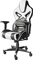 Кресло геймерское Mio Tesoro Стефан X-2657 (черный/белый) -