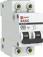 Выключатель автоматический EKF ВА 47-29 2P 16A (C) 4.5кА / mcb4729-2-16C -