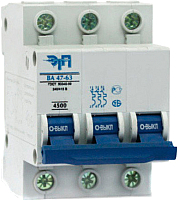 Выключатель автоматический ETP ВА 47-63 3P 25А (D) -