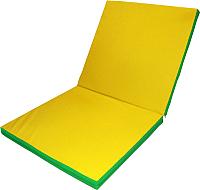 Гимнастический мат No Brand Складной 2x1x0.1м (зеленый/желтый) -