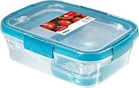 Набор контейнеров Curver Smart Fresh 00992-284-00 / 232594 (прозрачный/голубой) -
