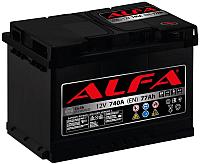 Автомобильный аккумулятор ALFA battery Hybrid R / AL 77.0 (77 А/ч) -