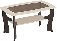 Журнальный столик Мебельград №15 (венге мали/ясень жемчужный) -