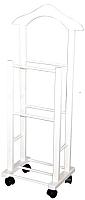 Вешалка для одежды Мебельград 46x30x109 (полиуретан белый) -