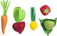 Набор игрушечных продуктов Paremo Овощи с карточками / PK320-15 (5 предметов) -