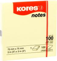 Блок для записей Kores 46075.04 (желтый) -