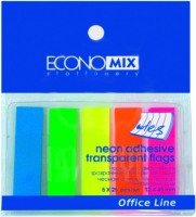 Стикеры канцелярские Economix 20945 (ассорти неон) -
