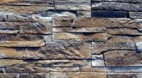 Декоративный камень Baastone Сланец Классический палевый-коричневый-черный 104 (360x90x8-14) -