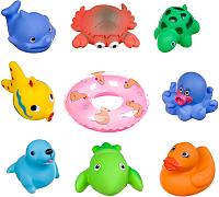 Набор игрушек для ванной Bondibon Подводный мир с кругом / ВВ3368 (9шт) -