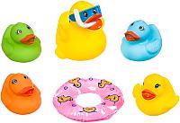 Набор игрушек для ванной Bondibon Утка с утятами и кругом / ВВ3371 (6шт) -