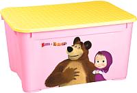 Ящик для хранения Бытпласт Маша и медвель 4313793 (розовый) -