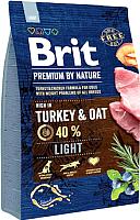 Корм для собак Brit Premium by Nature Light / 526581 (3кг) -