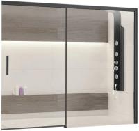 Стеклянная шторка для ванны RGW SC-45-B / 34114517-14 (черный/прозрачное стекло) -