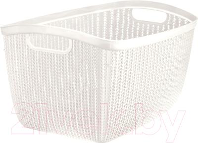 Корзина для белья Idea Вязание / М2617 (26л, белый)