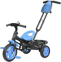 Детский велосипед с ручкой GalaXy Виват 3 (синий) -