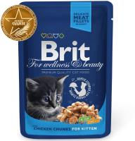 Корм для кошек Brit Premium Chicken Chunks for Kitten / 100309 (100г) -