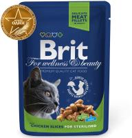 Корм для кошек Brit Premium Chicken Slice for Sterilized / 100310 (100г) -