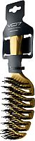 Расческа VO7 Золой песок с натуральной щетиной (24x7) -