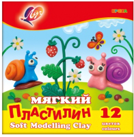 Пластилин восковой ЛУЧ Кроха / 23С 1484-08 (12цв) -