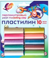 Пластилин ЛУЧ Перламутровый / 21С 1382-08 (10цв) -