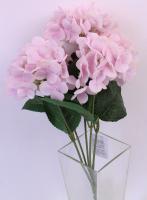Искусственный букет Orlix Букет из гортензий / 06-144-B/1 (розовый) -