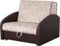 Кресло-кровать Мебельград Оливер Стандарт (роял бежево-лиловый/домус шоколадный) -