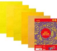 Набор фетра deVente Оттенки желтого / 8040684 (5цв) -