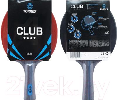 Ракетка для настольного тенниса Torres Club 4 TT0008