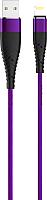 Кабель Olmio Solid USB 2.0 - lightning 2.1A / 039051 (1.2м, индиго) -